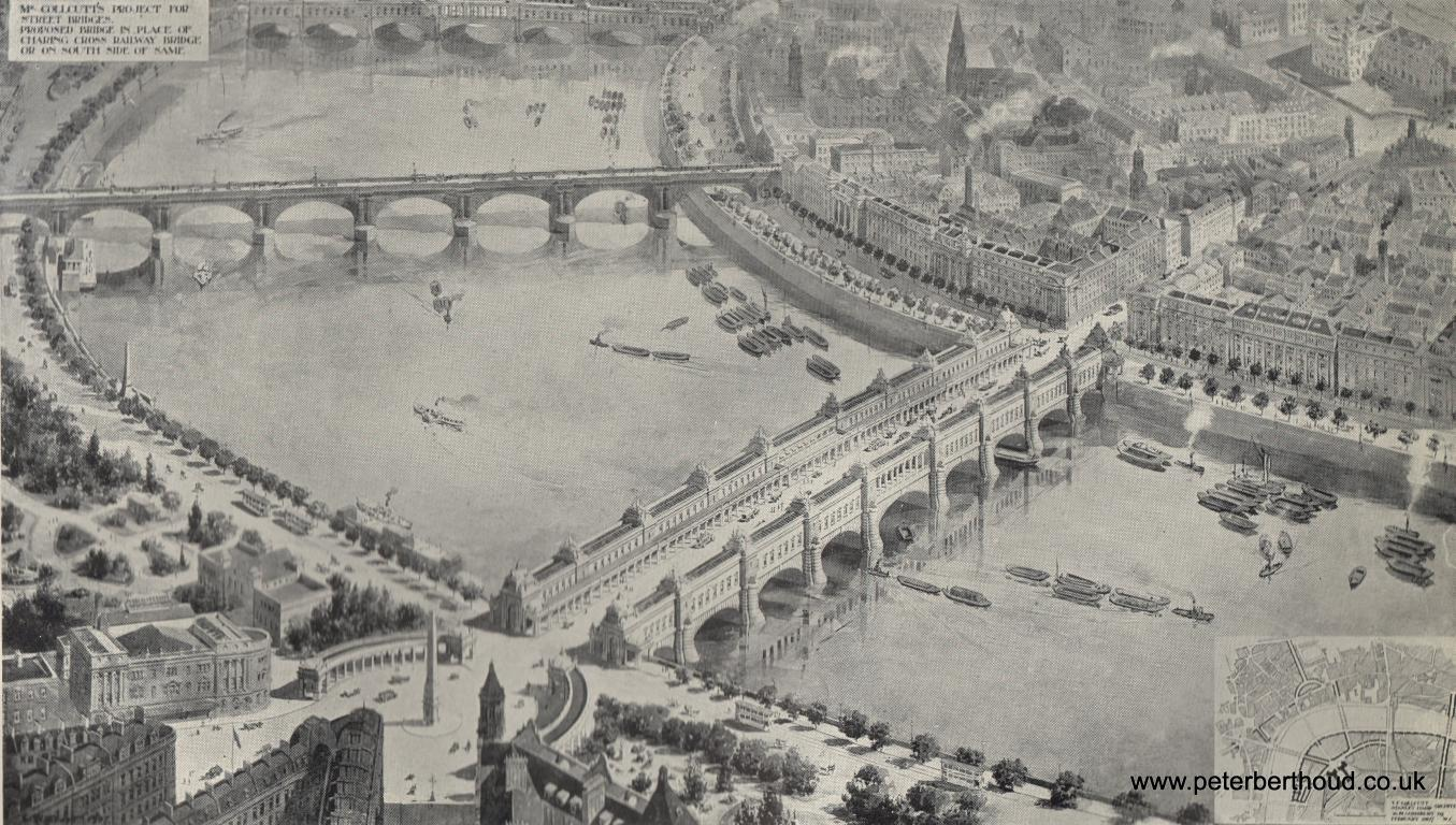 Plans for a Charing Cross Bridge Without Trains