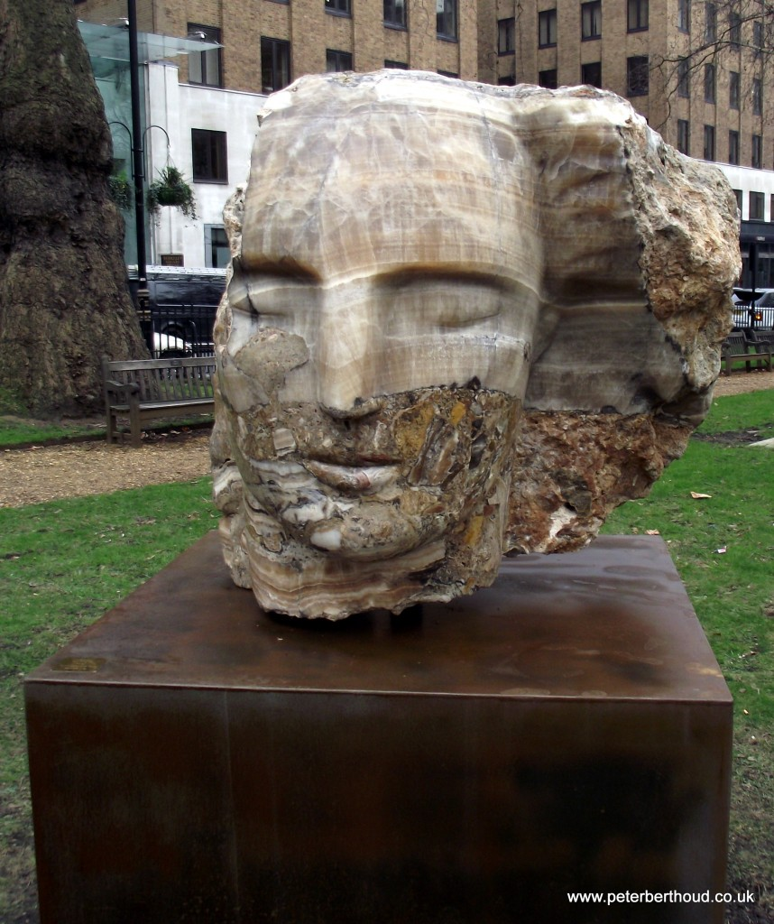The Metaphysics of Stone by Emily Young Berkeley Square London